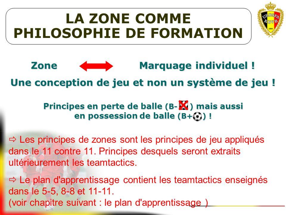 VISION DE FORMATION URBSFA 3. PHILOSOPHIE DE LA ZONE