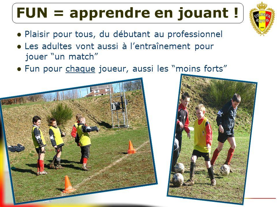 Retour vers le plaisir du football de rue Beaucoup de moments amusants dans la formation Du plaisir du jeu via le plaisir de l'entraînement vers le pl