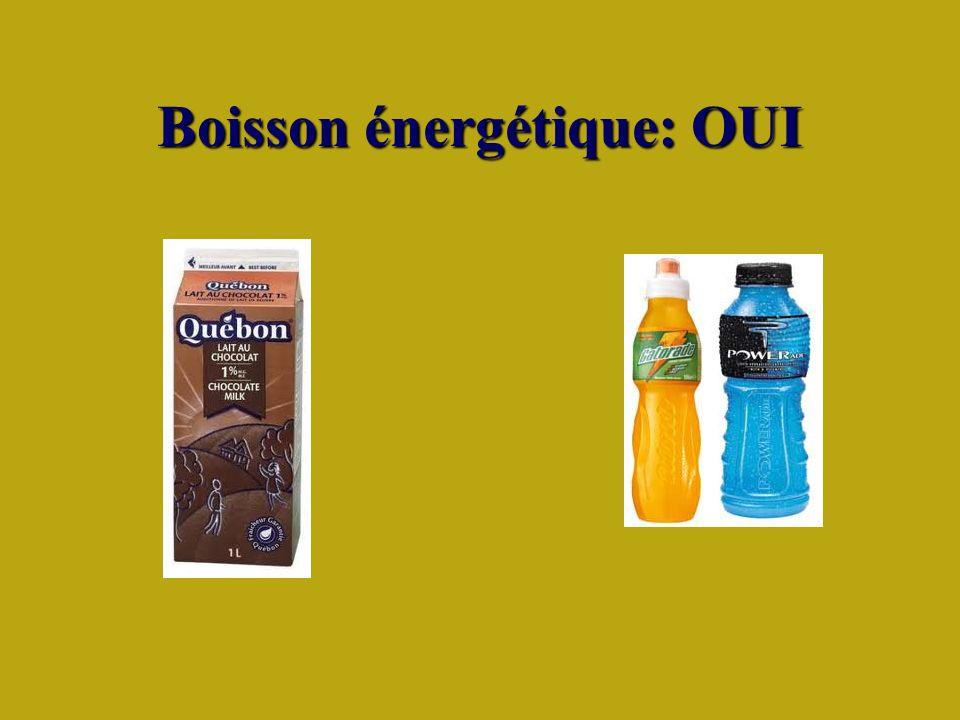 Boisson énergétique: OUI