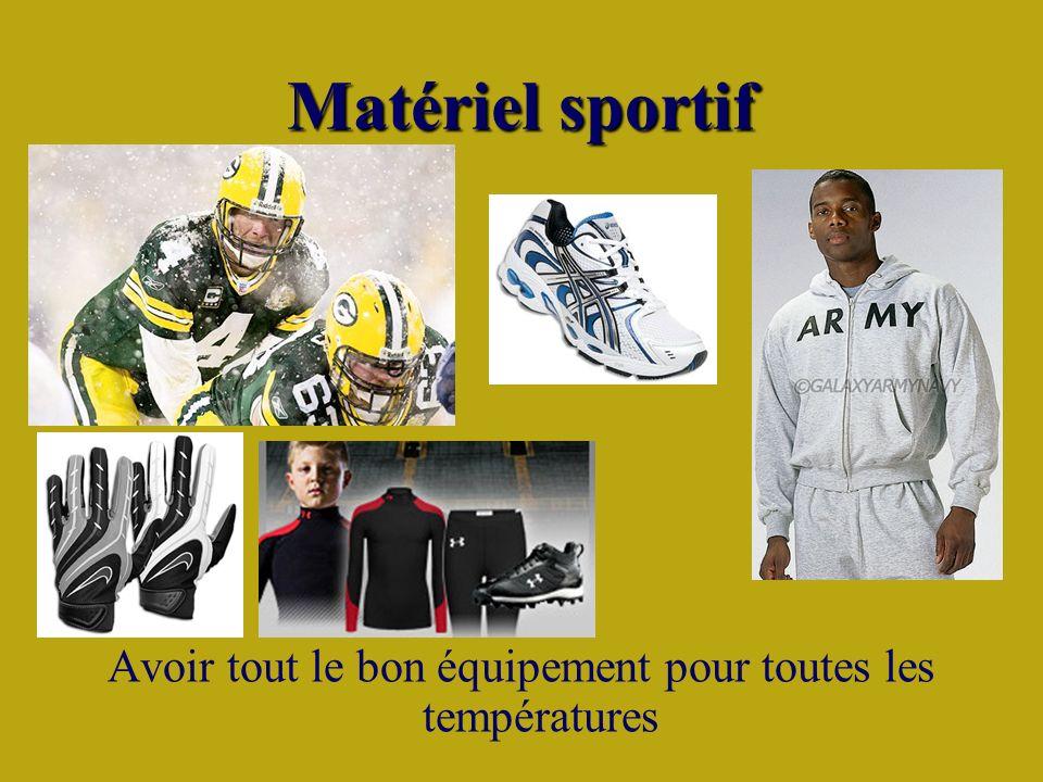 Matériel sportif Avoir tout le bon équipement pour toutes les températures