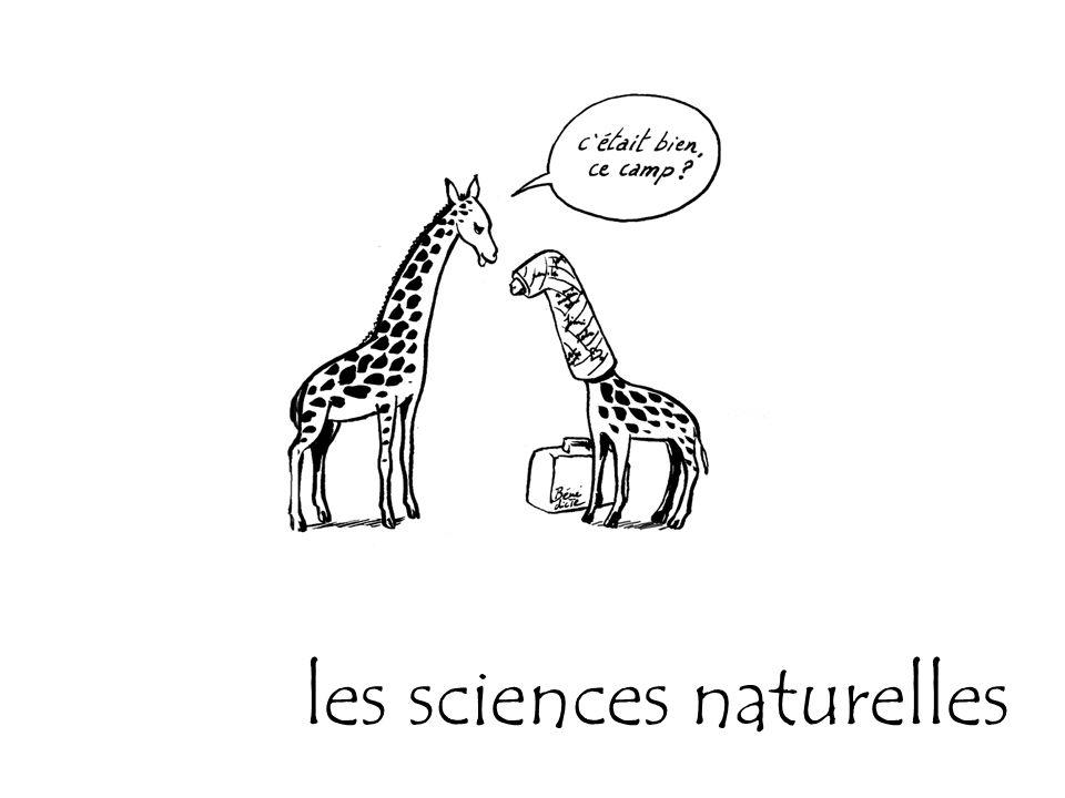 les sciences naturelles