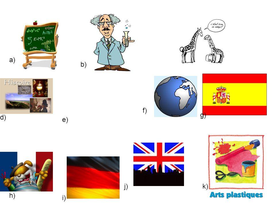 a) b) C) d) e) f) g) h) i) j)k)