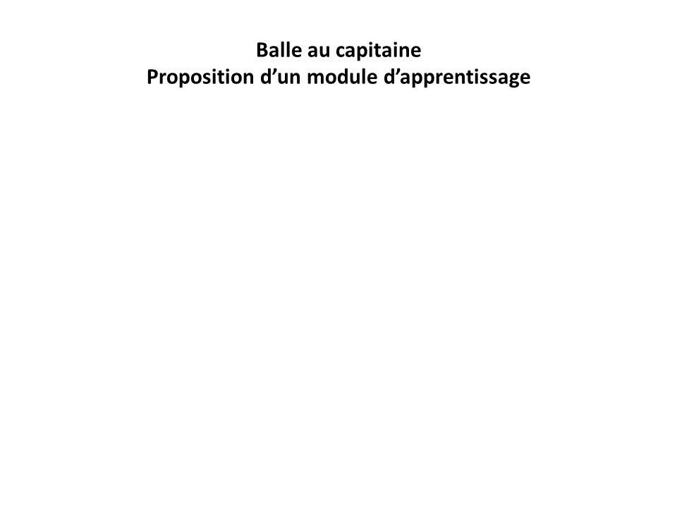 Balle au capitaine Proposition dun module dapprentissage