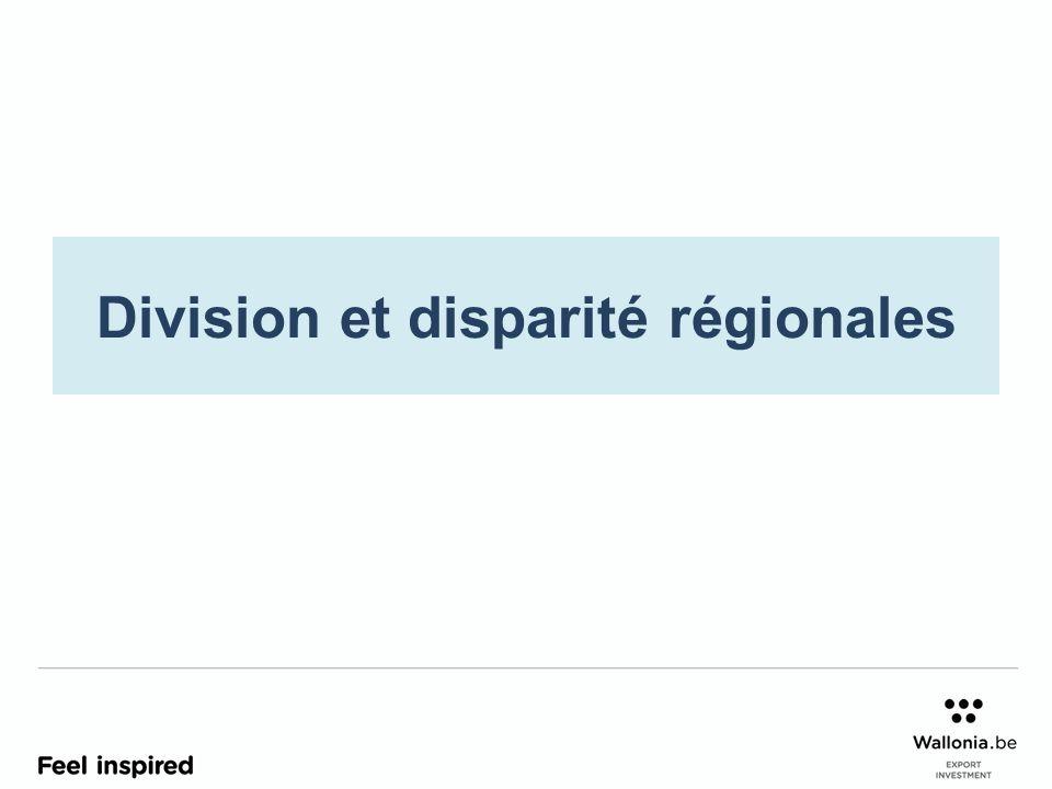 Division et disparité régionales