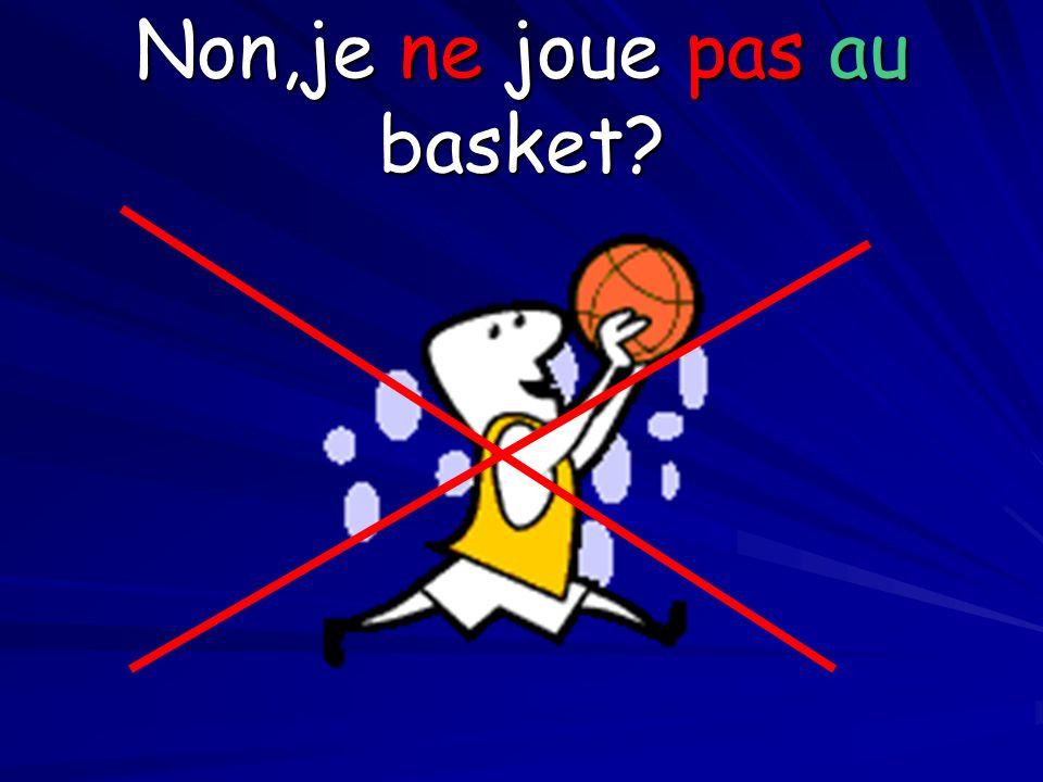 Non,je ne joue pas au basket?