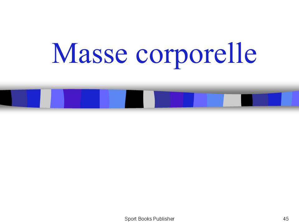Sport Books Publisher45 Masse corporelle