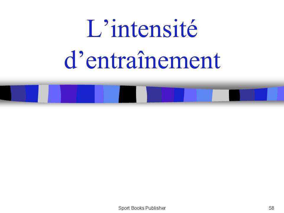 Sport Books Publisher58 Lintensité dentraînement