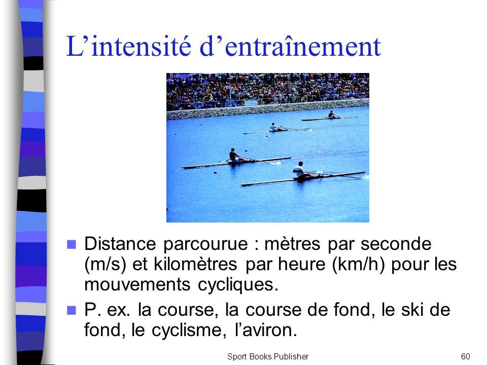 Sport Books Publisher60 Distance parcourue : mètres par seconde (m/s) et kilomètres par heure (km/h) pour les mouvements cycliques. P. ex. la course,