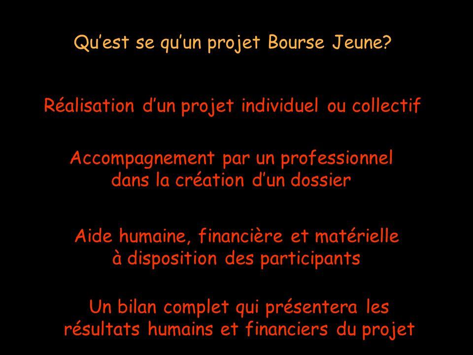 Réalisation dun projet individuel ou collectif Quest se quun projet Bourse Jeune.