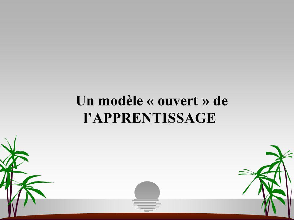 Un modèle « ouvert » de lAPPRENTISSAGE