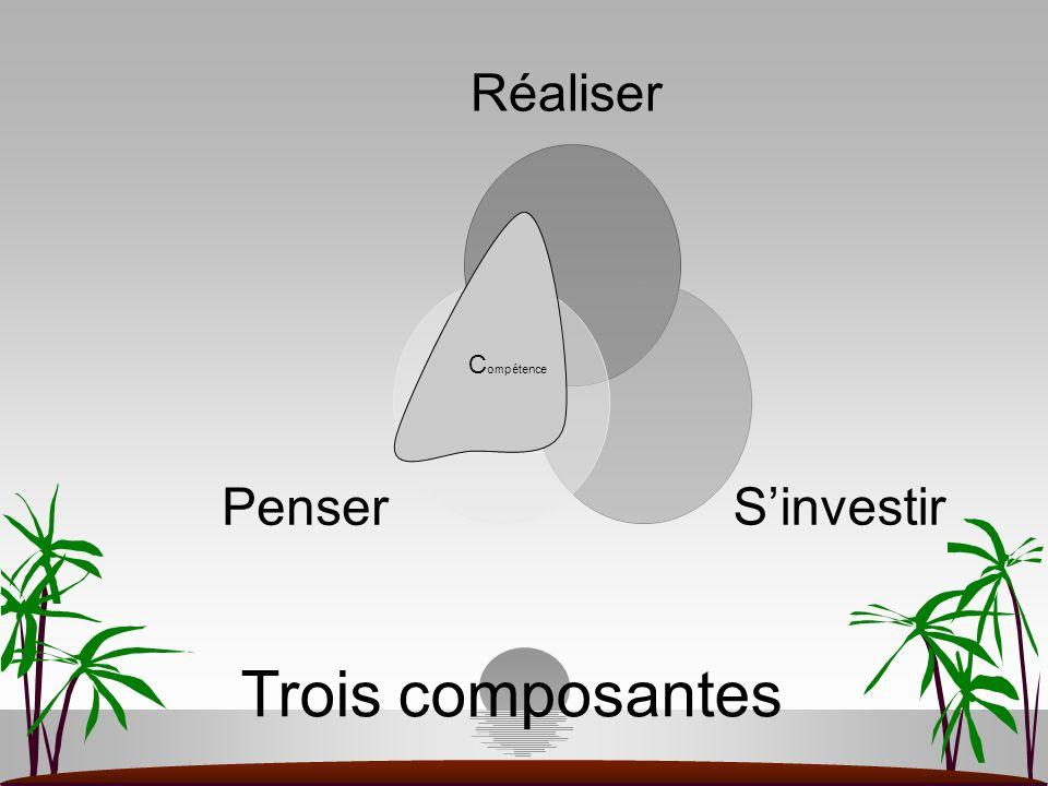 Trois composantes C ompétence