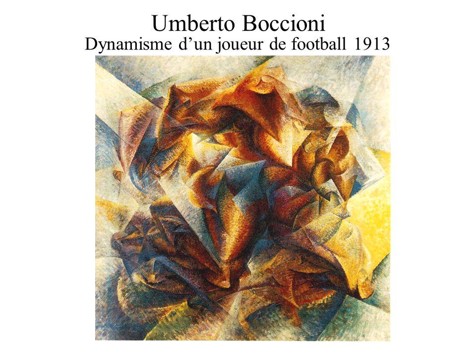 Umberto Boccioni Dynamisme dun joueur de football 1913