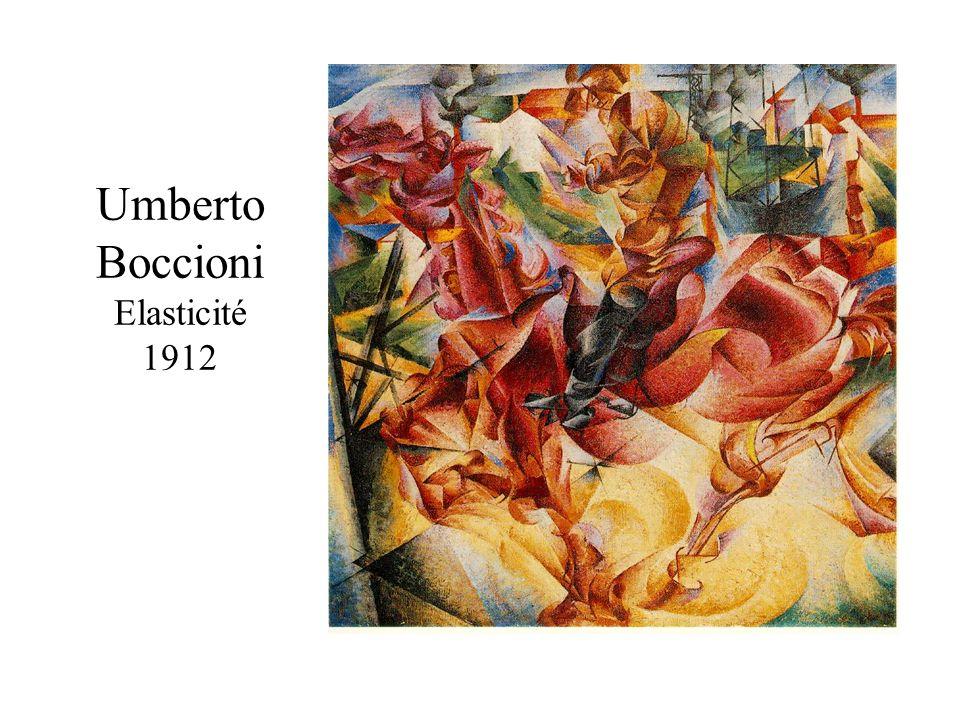 Umberto Boccioni Elasticité 1912