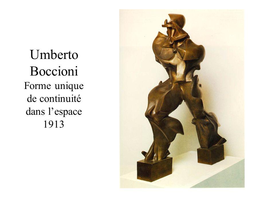Umberto Boccioni Forme unique de continuité dans lespace 1913