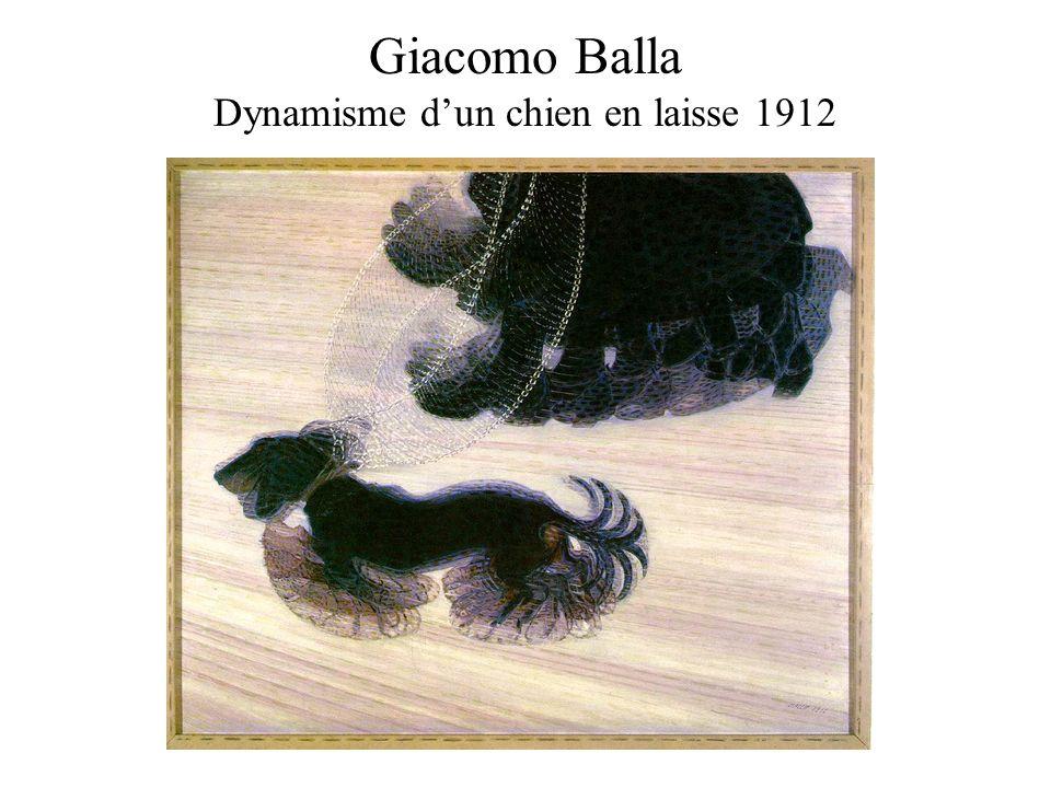 Giacomo Balla Dynamisme dun chien en laisse 1912