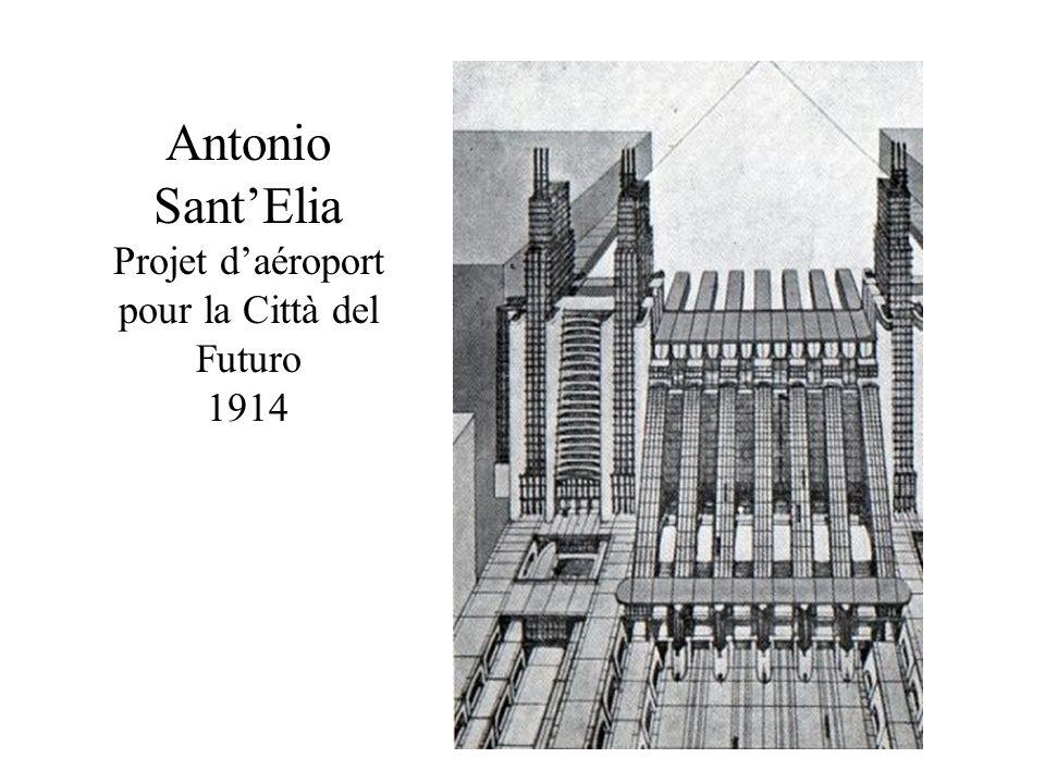 Antonio SantElia Projet daéroport pour la Città del Futuro 1914