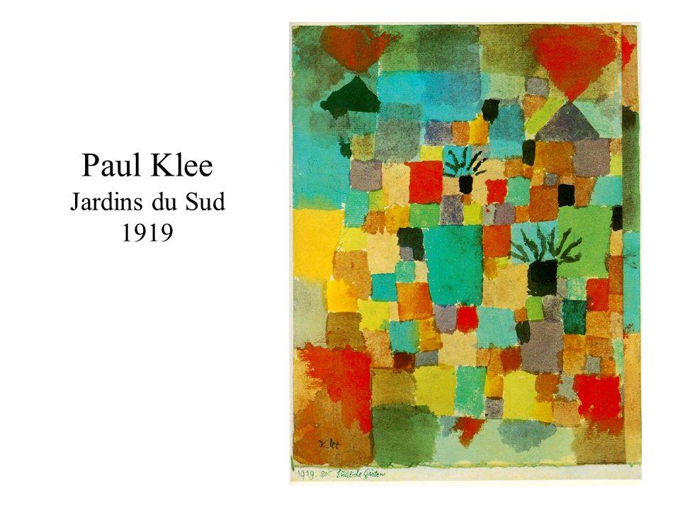 Paul Klee Jardins du Sud 1919