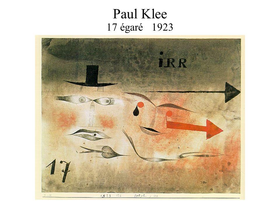 Paul Klee 17 égaré 1923