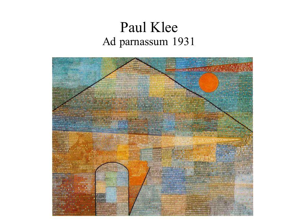 Paul Klee Ad parnassum 1931