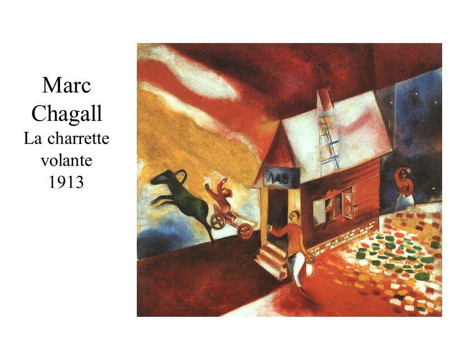 Marc Chagall La charrette volante 1913