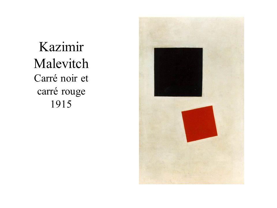 Kazimir Malevitch Carré noir et carré rouge 1915
