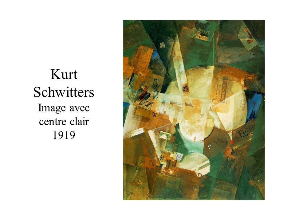 Kurt Schwitters Image avec centre clair 1919