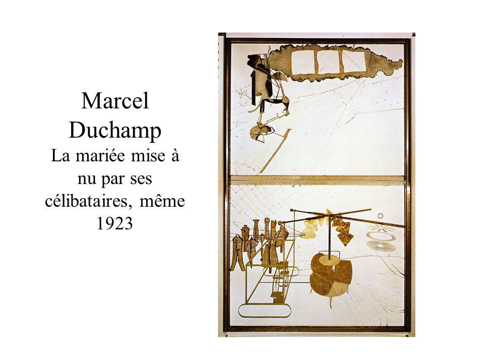 Marcel Duchamp La mariée mise à nu par ses célibataires, même 1923