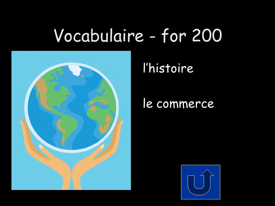 Vocabulaire - for 200 lhistoire le commerce