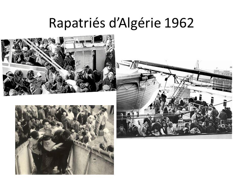 Rapatriés dAlgérie 1962