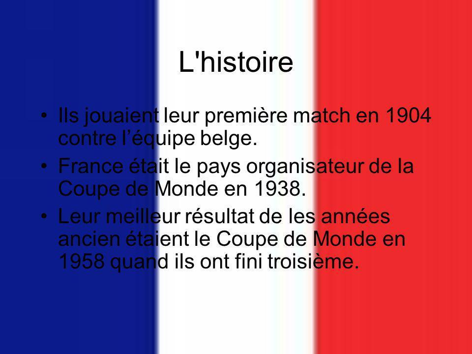 L histoire Ils jouaient leur première match en 1904 contre léquipe belge.