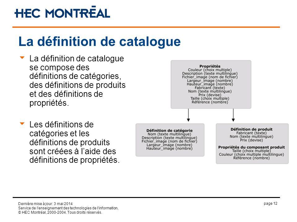 page 12 Dernière mise à jour: 3 mai 2014 Service de l'enseignement des technologies de l'information, © HEC Montréal, 2000-2004. Tous droits réservés.