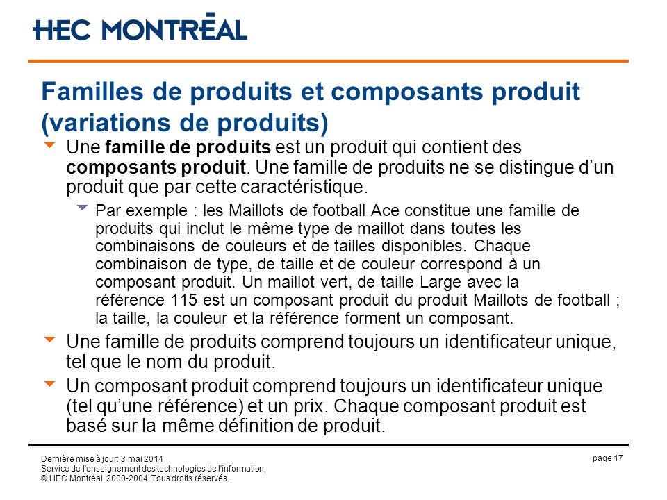page 17 Dernière mise à jour: 3 mai 2014 Service de l'enseignement des technologies de l'information, © HEC Montréal, 2000-2004. Tous droits réservés.