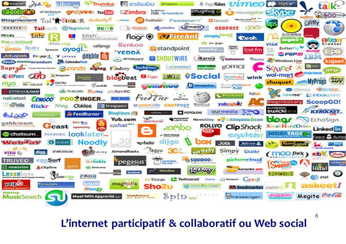 6 Linternet participatif & collaboratif ou Web social