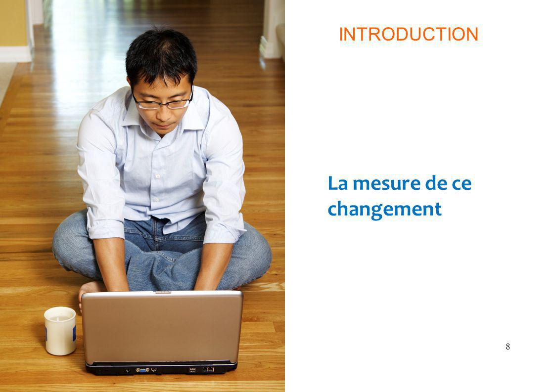 8 La mesure de ce changement INTRODUCTION