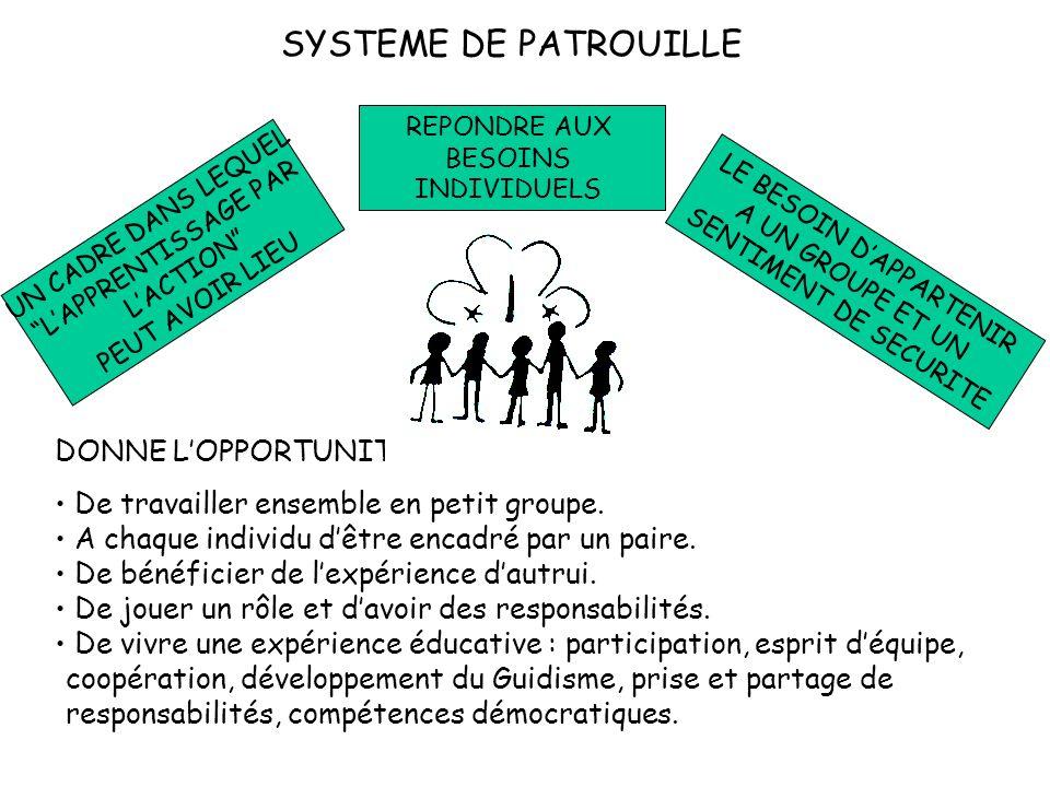 Questions à considérer… Y a-t-il un travail de groupe dans le Guidisme/Scoutisme.