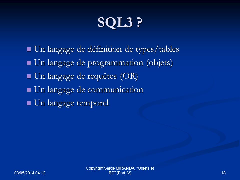 03/05/2014 04:14 18 Copyright Serge MIRANDA,