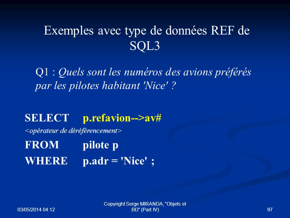 03/05/2014 04:14 97 Copyright Serge MIRANDA,