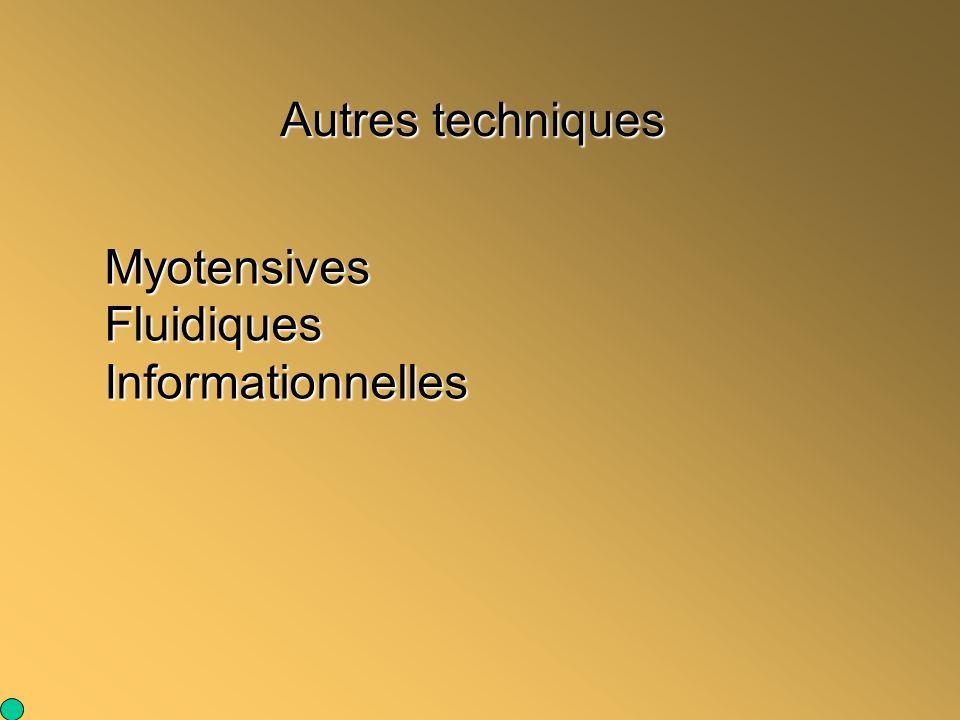 Autres techniques MyotensivesFluidiquesInformationnelles