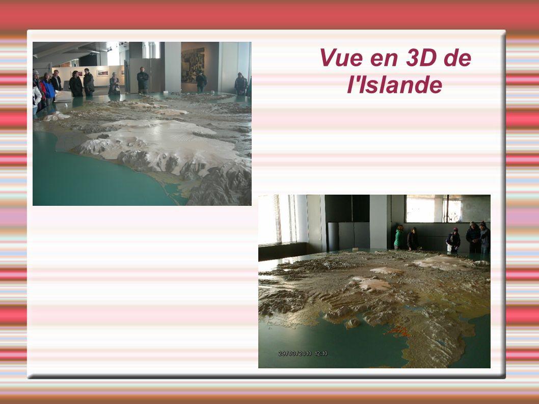 Vue en 3D de l Islande