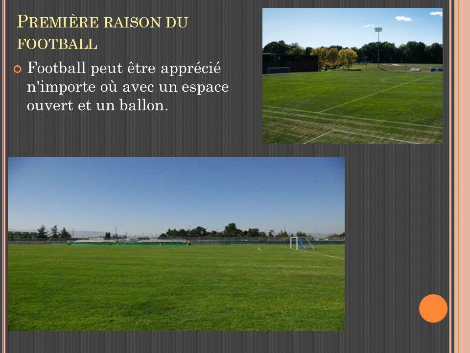 P REMIÈRE RAISON DU FOOTBALL Football peut être apprécié n importe où avec un espace ouvert et un ballon.