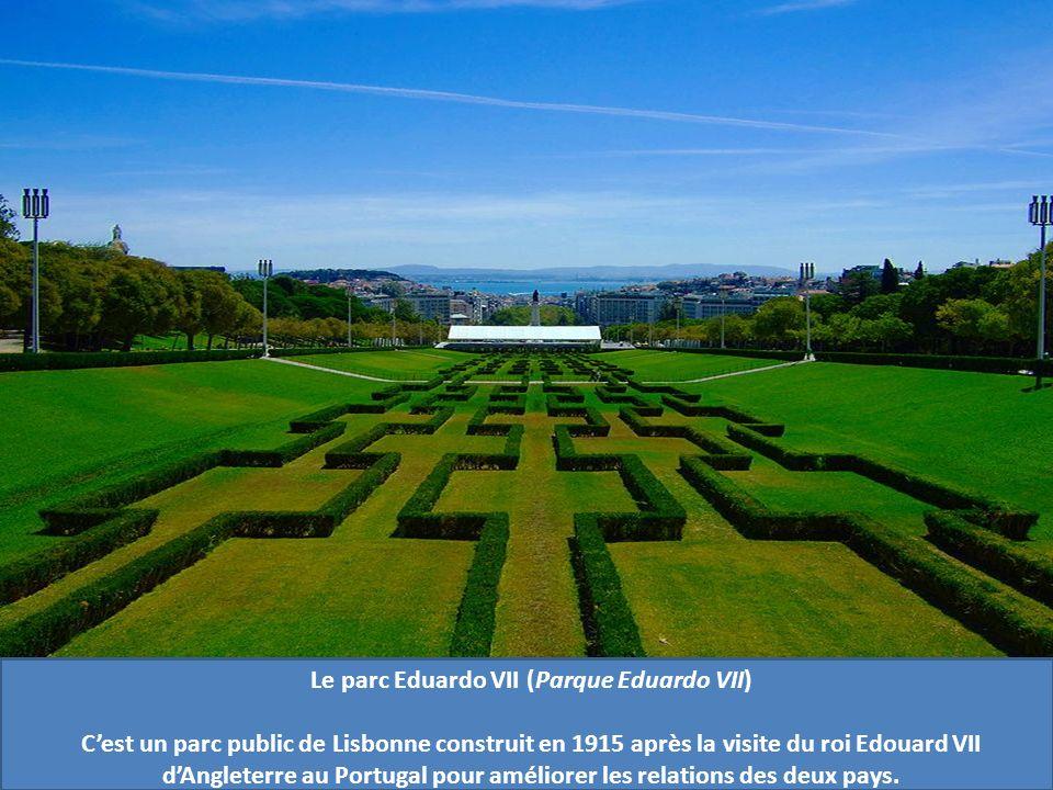 Le parc Eduardo VII (Parque Eduardo VII) Cest un parc public de Lisbonne construit en 1915 après la visite du roi Edouard VII dAngleterre au Portugal