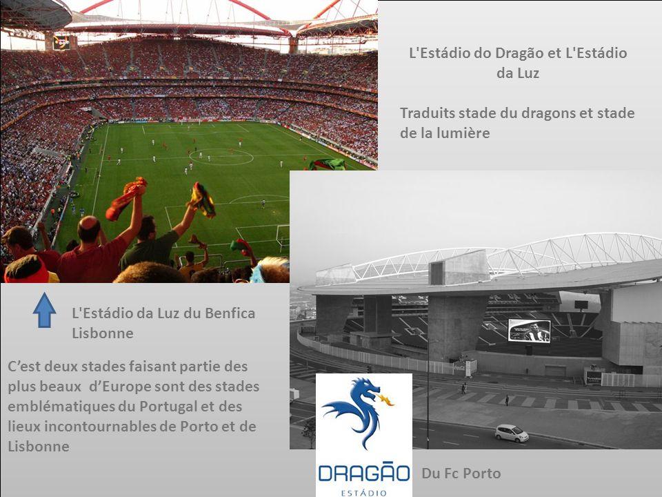 L'Estádio do Dragão et L'Estádio da Luz Traduits stade du dragons et stade de la lumière L'Estádio da Luz du Benfica Lisbonne Cest deux stades faisant