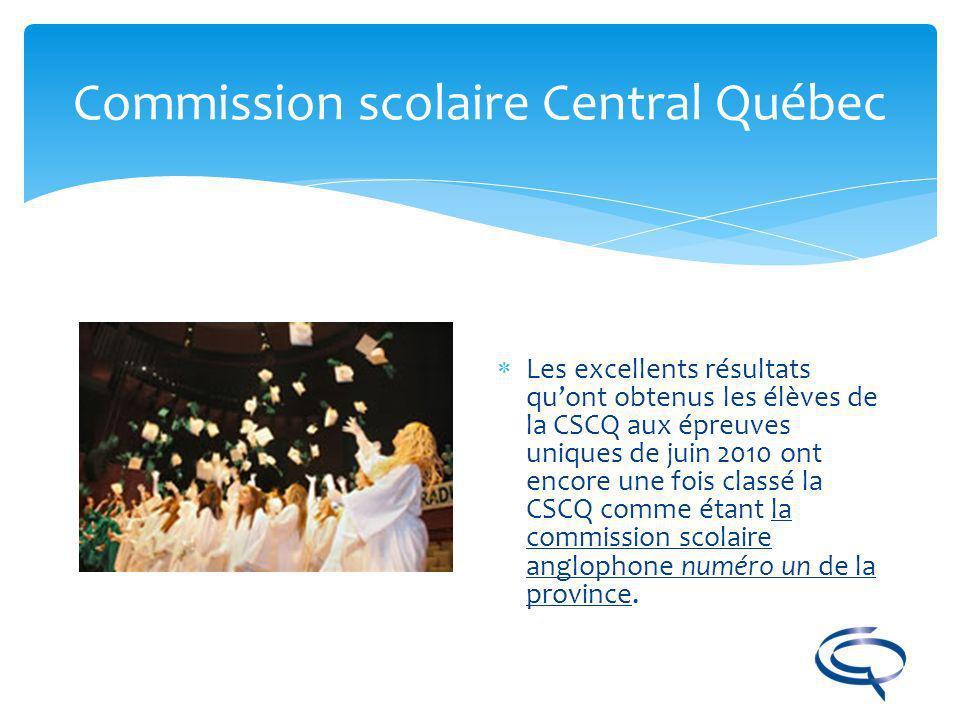 Commission scolaire Central Québec Des écoles chaleureuses de petite taille.