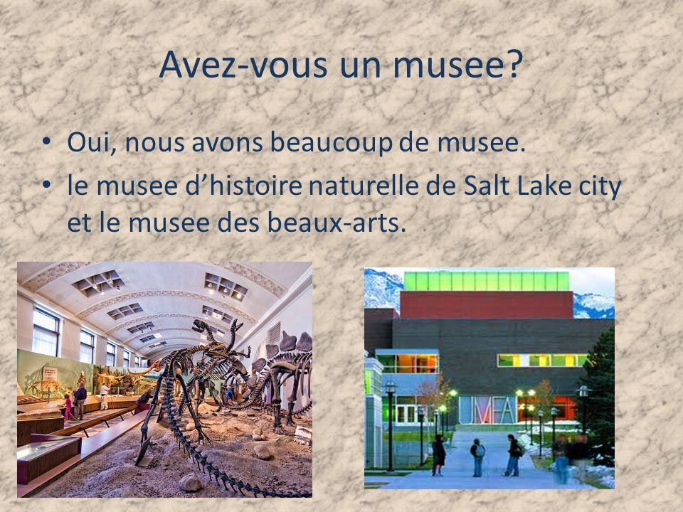 Avez-vous un musee.Oui, nous avons beaucoup de musee.