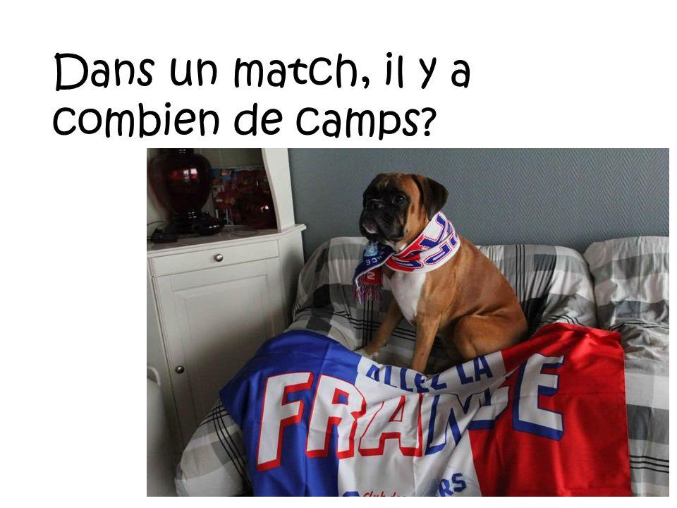 Dans un match, il y a combien de camps?