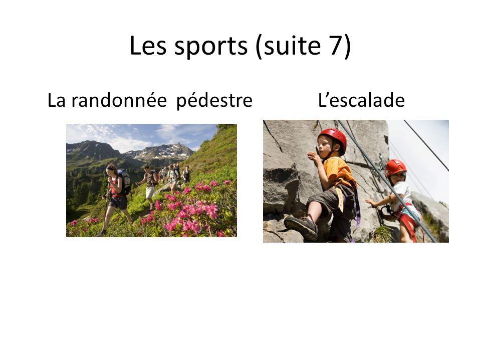 Les sports (suite 7) La randonnée pédestreLescalade