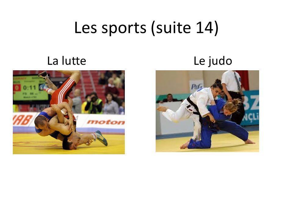 Les sports (suite 14) La lutteLe judo
