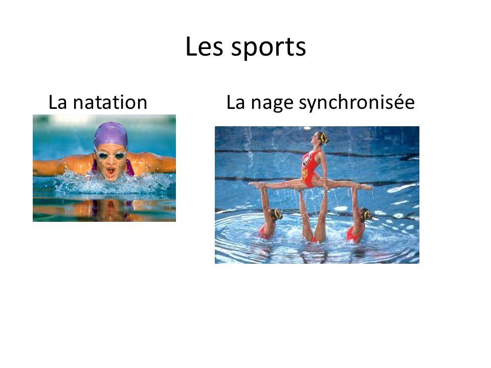 Les sports La natationLa nage synchronisée