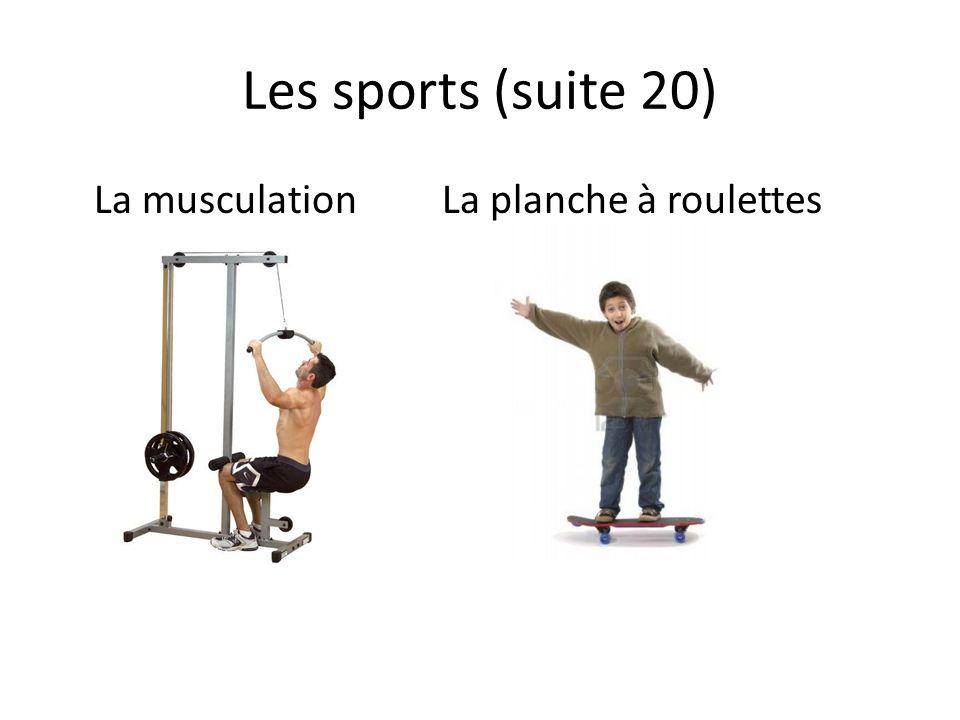 Les sports (suite 20) La musculationLa planche à roulettes