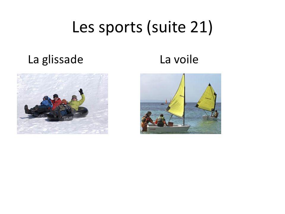 Les sports (suite 21) La glissadeLa voile